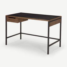 Depot Desk, Dark Stain Pine Wood   MADE.COM (UK)
