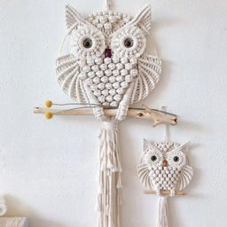 2pcs Owls Dream Catchers Cotton Macrame Wall Hanging Handmade   Etsy   Etsy (US)