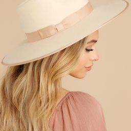 Taupe Rancher Hat   Red Dress
