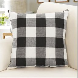 Outgeek Throw Pillow Case Classic Retro Plaid Pillow Cover Protector Cushion Cover for Home Offic... | Walmart (US)