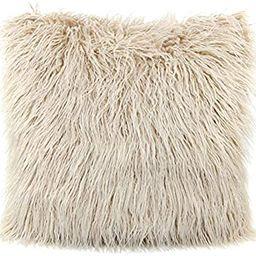 MHJY Faux Fur Pillow Case, Mongolian Fluffy Pillow Cover Soft Plush Throw Pillow Case Cushion Cov...   Amazon (US)