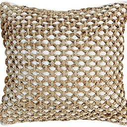 Boho Living Jada Decorative Pillow Pillows, 20 in x 20 in x 6.5 in, White   Amazon (US)