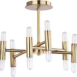 Safavieh FLU4008A Collection Fidelma Mount Flush Light, Gold   Amazon (US)