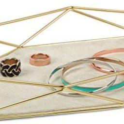 """Umbra 299481-221 Prisma Tray, Geometric Plated Jewelry Storage, 11"""" Length x 7.25"""" Height x 1.5...   Amazon (US)"""