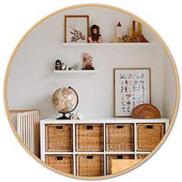 LOIGYUR Wall Round Mirror 30 Inch Gold Metal Frame Circle Mirror for Shower, Bathroom or Living R...   Amazon (US)