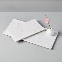 Foundations White Marble Trays   West Elm (US)
