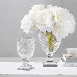 Monique Lhuillier Ava Clear Cut Glass Vase   Pottery Barn (US)