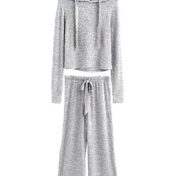 'Vania' Cropped Hoodie and Bottoms Loungewear Set (4 Colors)   Goodnight Macaroon