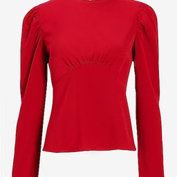 Seamed Puff Sleeve Top | Express