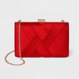 Estee & Lilly Textured Satin Basketweave Clutch | Target