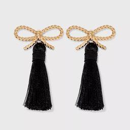 SUGARFIX by BaubleBar Braided Bow Tassel Earrings | Target