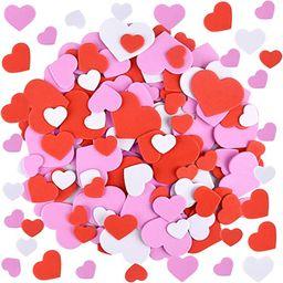 FEPITO 300 Pcs Valentine's Day Heart Foam Stickers Self Adhesive Mixed Color Heart Shape Stickers... | Amazon (CA)