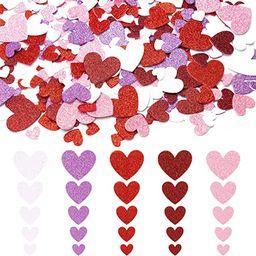 WATINC 700Pcs Glitter Heart Foam Sticker for Party Favor, Different Size Heart Foam Sticker Birth... | Amazon (CA)