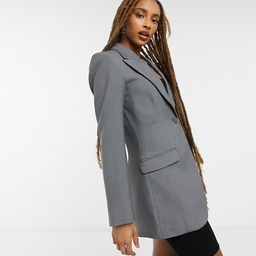 Weekday Paris fitted longline blazer in anthracite gray | ASOS (Global)