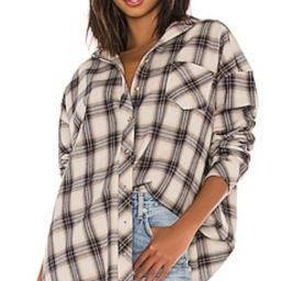 Lovers + Friends Gela Oversized Top in Nude Plaid from Revolve.com   Revolve Clothing (Global)