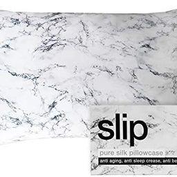 "SLIP Silk Queen Pillowcase, Marble (20"" x 30"") - 100% Pure 22 Momme Mulberry Silk Pillowcase - Br... | Amazon (US)"