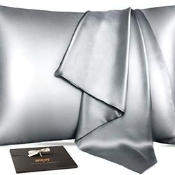 Winjoy Silk Pillowcase for Hair and Skin,25 Momme 100% Natural Mulberry Silk Pillowcases Standard... | Amazon (US)