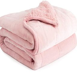 Weighted Blanket 15lbs, Sherpa Flannel Cozy Plush Bed Blanket, Fuzzy Sherpa Flannel Bedding Blank... | Amazon (CA)