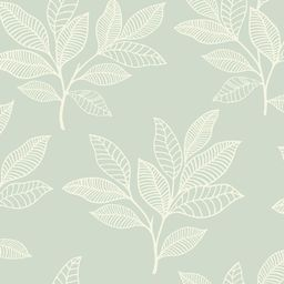 Seabrook Designs Paradise Leaves Mint Botanical Paper Strippable Roll (Covers 56.05 sq. ft.)-RY30... | The Home Depot