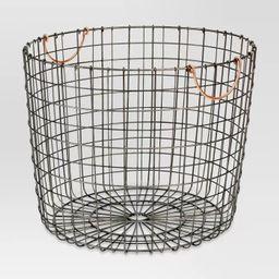 Extra Large Round Wire Decorative Storage Bin with Handles Copper - Threshold™ | Target
