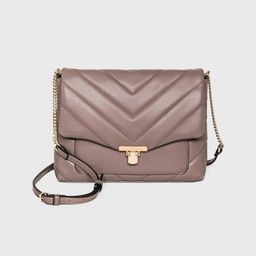 Metal Clasp Closure Boxy Large Crossbody Bag - A New Day™   Target
