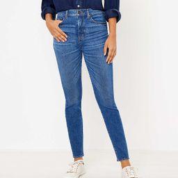 High Waist Skinny Jeans in Authentic Dark Indigo Wash | LOFT