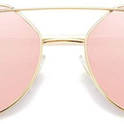 SOJOS Cat Eye Sunglasses for Women Fashion Designer Style Mirrored Lenses SJ1001 | Amazon (US)