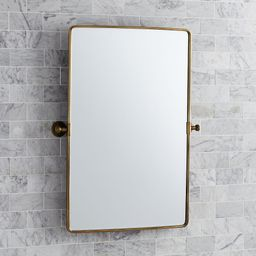 Tumbled Brass Vintage Rounded Rectangle Pivot Mirror, 27x35 | Pottery Barn (US)