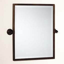 Kensington Pivot Mirror, Rectangle, Warm Bronze finish | Pottery Barn (US)