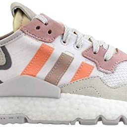 adidas Womens Nite Jogger Lace Up Sneakers Shoes Casual - White | Amazon (US)
