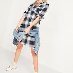 Plaid Flannel Western Shirt Dress for Women | Old Navy (US)
