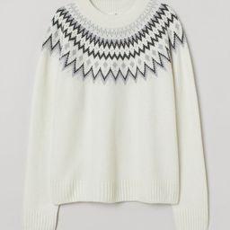 H & M - Jacquard-knit Sweater - White | H&M (US)