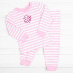 Light Pink Stripe Knit Loungewear   Smocked Auctions