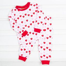 Heart Print Tight Fitting Loungewear   Smocked Auctions