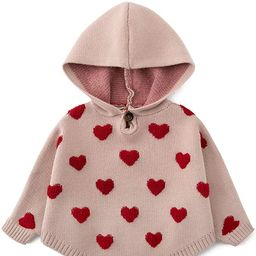 Curipeer Baby Girls Sweater Cape Hooded Cable-Knit Baby Poncho Infant Cloak for Fall Outwear Coat...   Amazon (US)