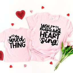 mommy and me valentines shirt, kids valentines day shirt, baby valentines shirt, womens valentine...   Etsy (US)
