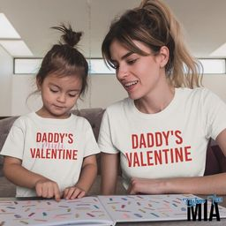 Mom and Daughter Daddy's Valentines Matching Shirt - Valentines Shirt - Mommy and Me Valentine's ...   Etsy (US)