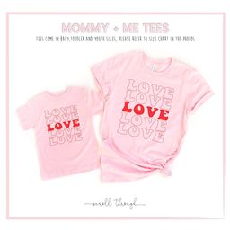 Mommy and Me Valentine's Shirts, Mother Daughter Shirts, Retro Love Matching Shirts,Mama,Toddler ...   Etsy (US)