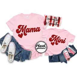 Valentine's Mommy And Me Matching Shirts, Valentines Day Mommy And Me Shirts, Mama Mini Shirts, M...   Etsy (US)