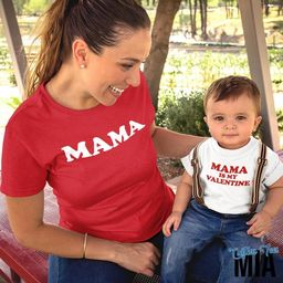 Mama Is My Valentine Matching Mom and Child Shirt - Valentine Shirt - Mama Matching Shirt - Valen...   Etsy (US)