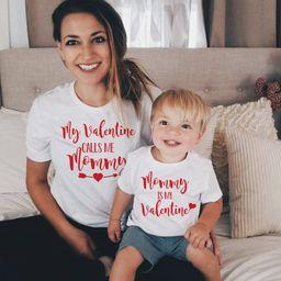 Matching Valentines Day shirt   Customize My Valentine calls me mommy and Mommy is my Valentine  ...   Etsy (US)