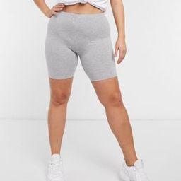 ASOS DESIGN Curve basic legging short in gray marl | ASOS (Global)