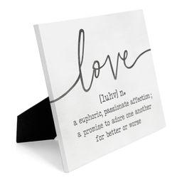 Alaqua Love Definition Easelback | Wayfair North America