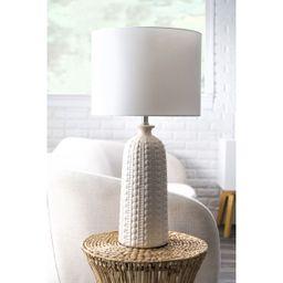 Cream 30-inch Polona Ceramic Table Lamp   Rugs USA