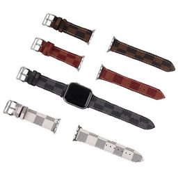 'Mary' Checked Canvas Apple Watch Strap (4 Colors) | Goodnight Macaroon