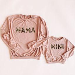 Tan Mama & mini sweatshirt  mama and mini sweatshirt leopard   Etsy   Etsy (US)