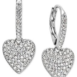 Pavé Heart Drop Earrings, Created for Macy's | Macys (US)