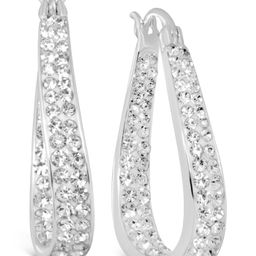 Crystal In & Out Teardrop Drop Earrings in Fine Silver-Plate | Macys (US)