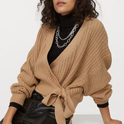 Knitted wrapover jumper  £14.99 | H&M (UK, IE, MY, IN, SG, PH, TW, HK)