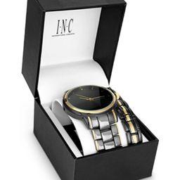 INC Men's Two-Tone Bracelet Watch 36mm Gift Set, Created for Macy's   Macys (US)